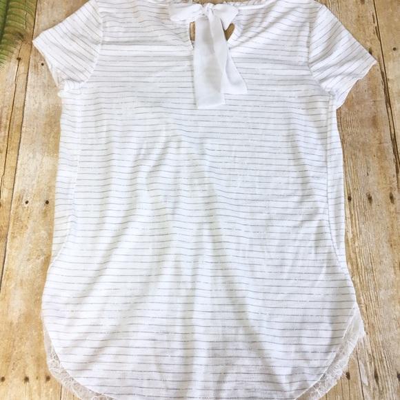 NWT LC LAUREN CONRAD Authentic Women/'s Denim White Crochet Applique Shorts Sizes